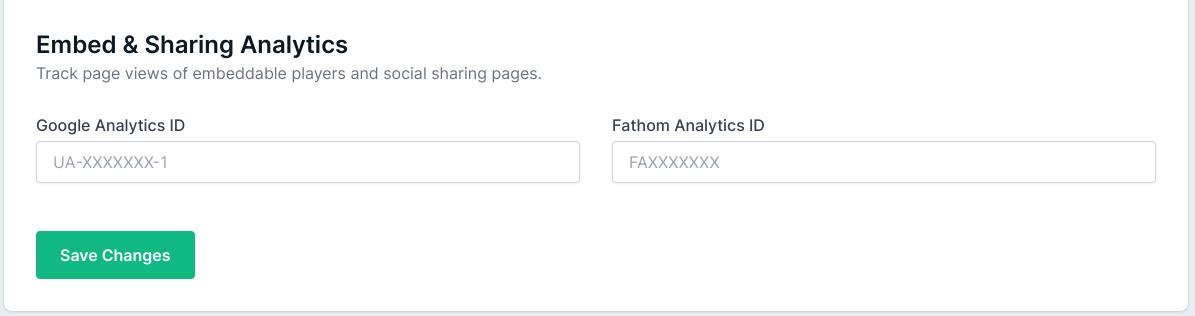 Social tab - Sharing Analytics