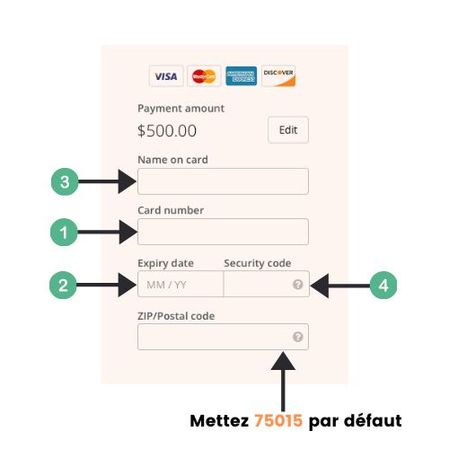 Exemple de formulaire de paiement en ligne