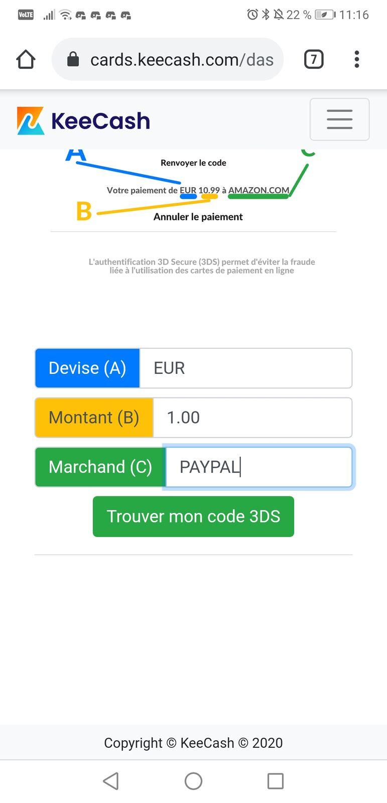 PayPal Check Code