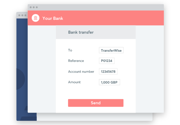 Pay by bank transfer directly through your bank