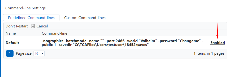 Command Line Page
