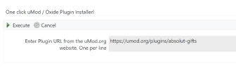 uMod/Oxide One Click Installer Example