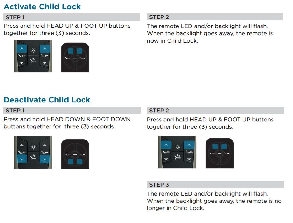 Child Lock Deactivation Instructions