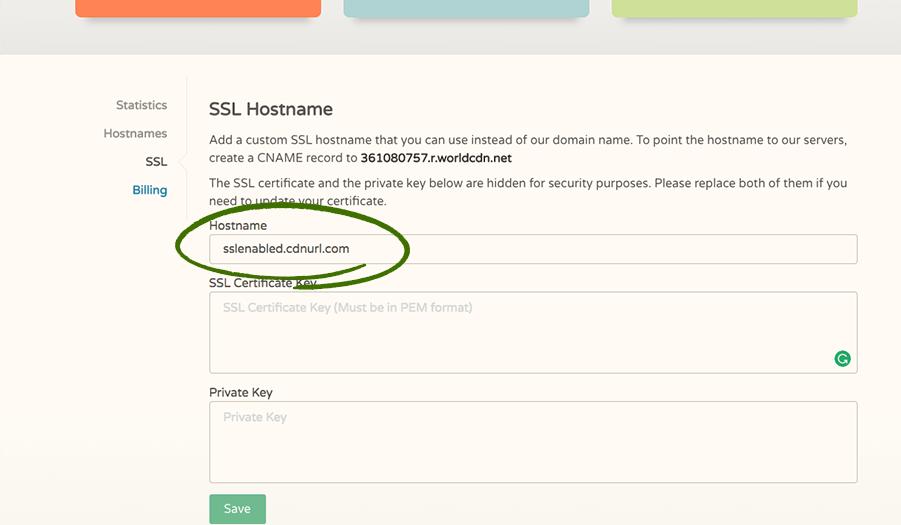 CDN SSL Hostname