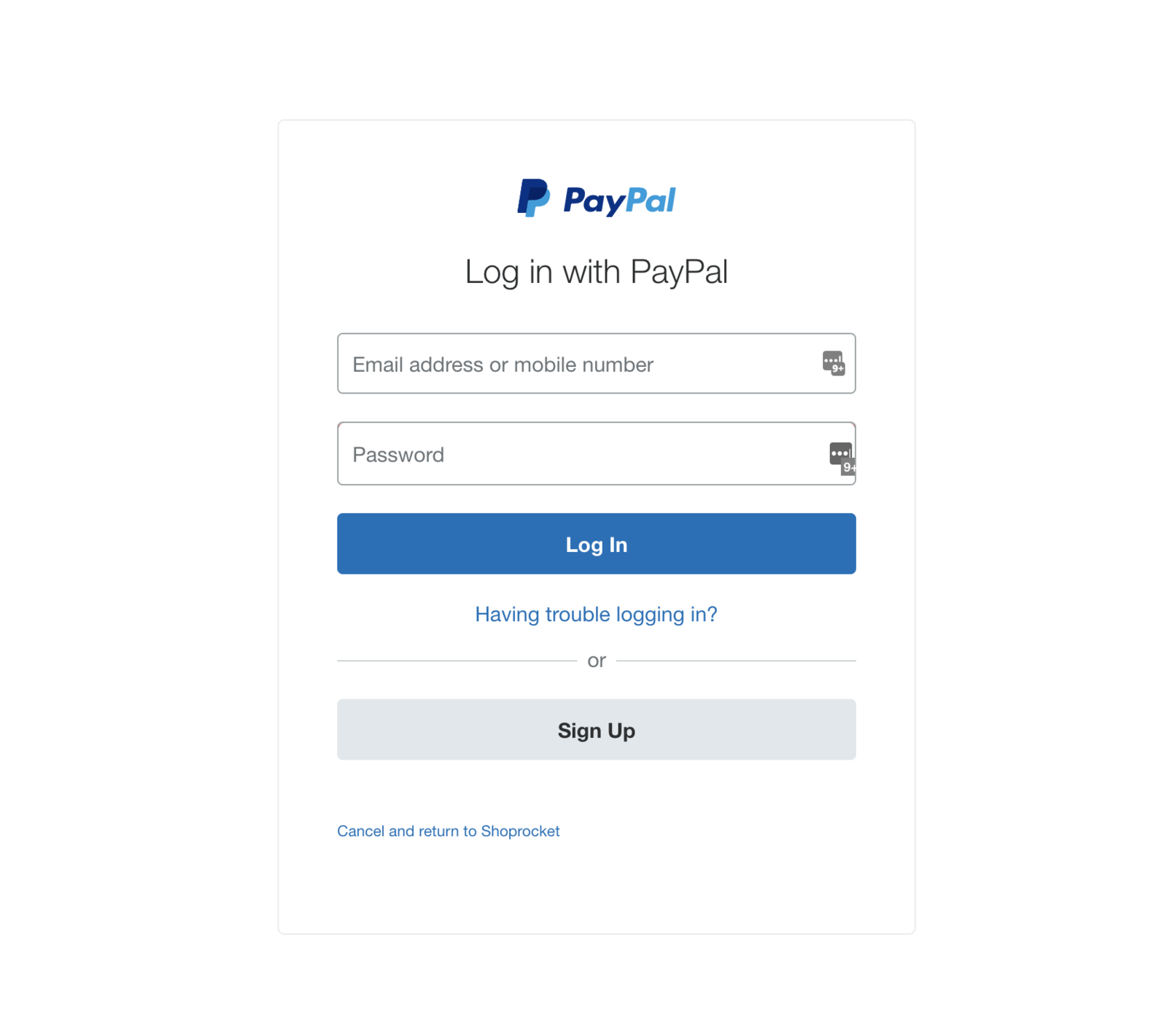 Login to your PayPal account