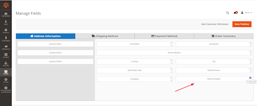 Add phone number to checkout fields