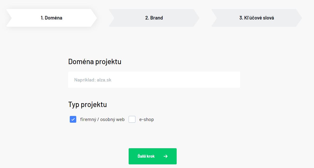Vytvorenie projektu - prvý krok
