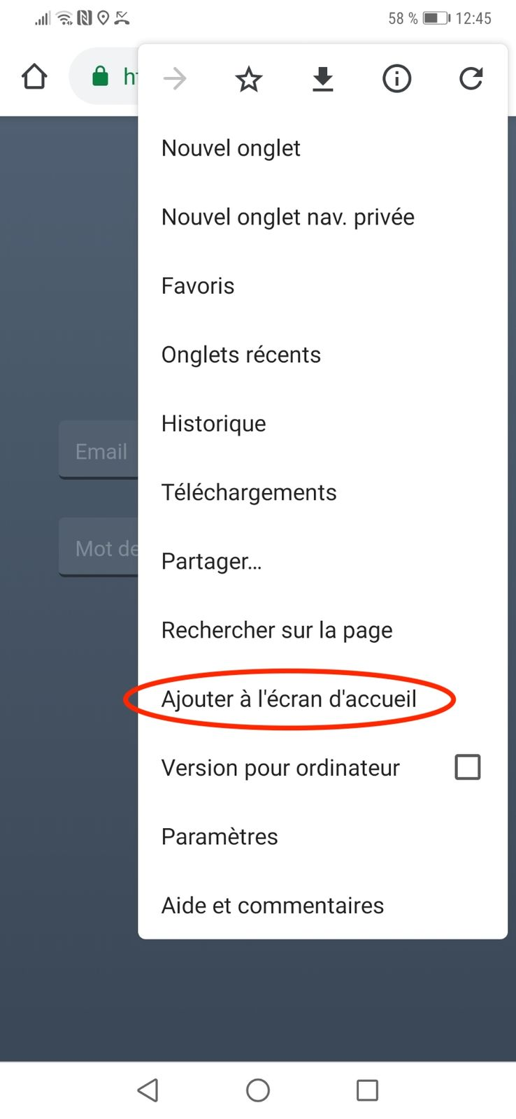 Installer PapaGère depuis le menu de Chrome