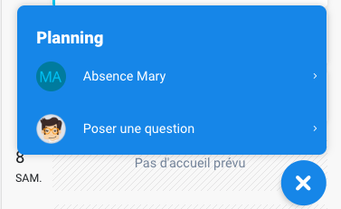 Ajouter une absence