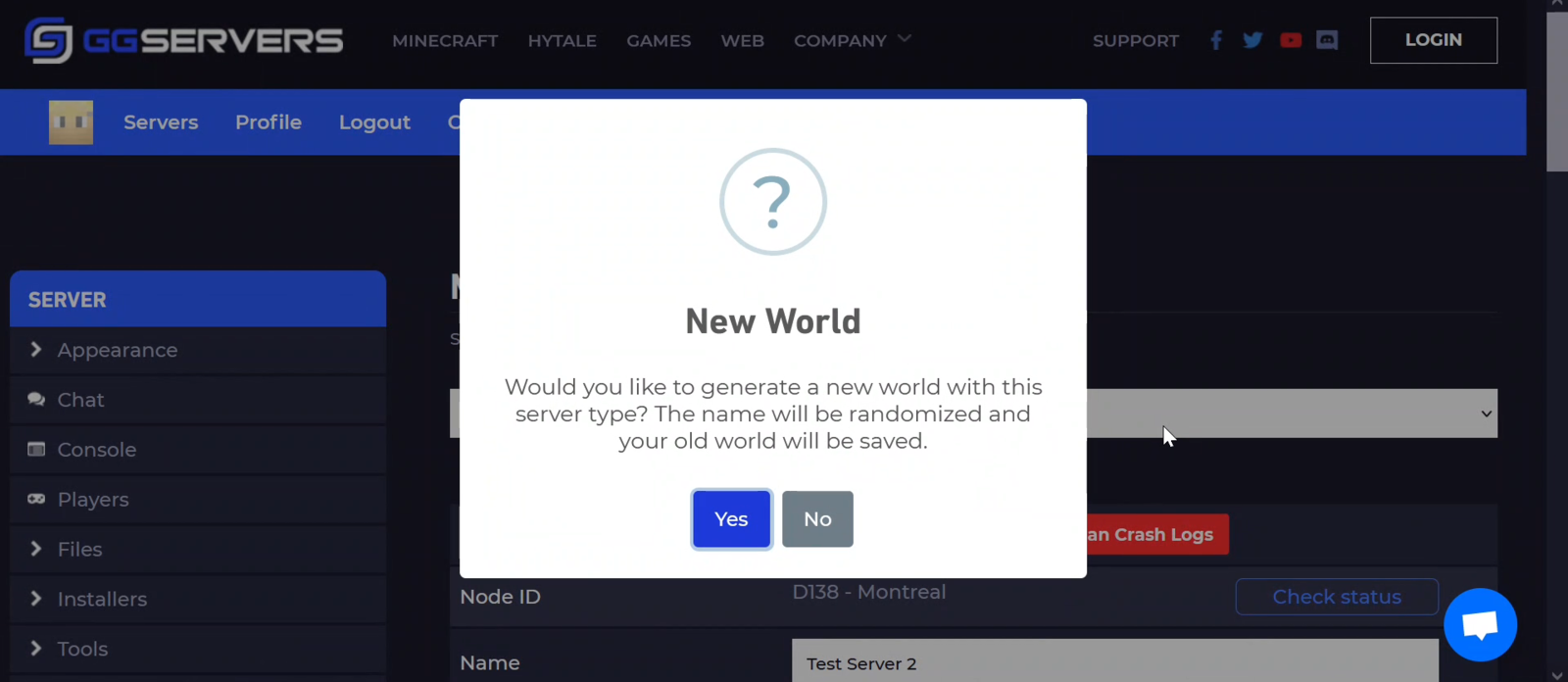 Generate a New World