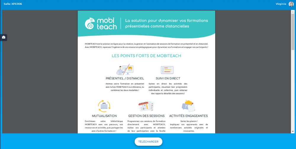 Consultation d'un document PDF - Côté participant