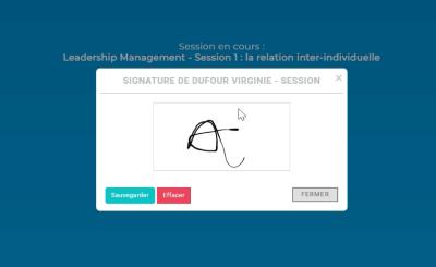 Signature en live par les participants