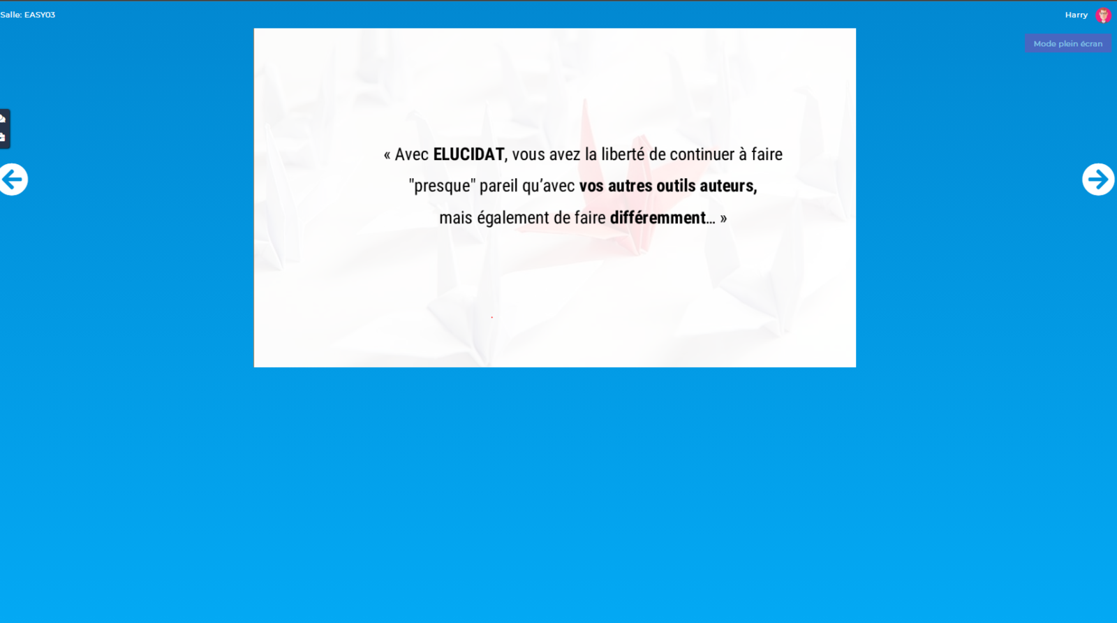 Tableau Blanc : Mode Libre pour le participant