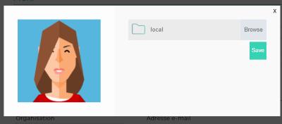 Modification photo de profil