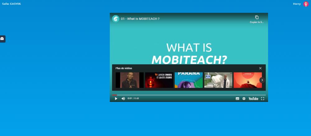 Activité URL : Vidéo intégrée dans la page - Côté participant