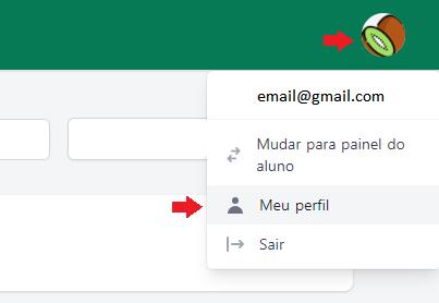 Clique em Alterar Email