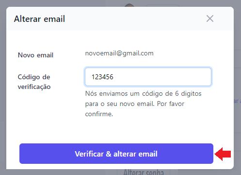 Clique para verificar & alterar seu email