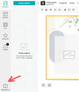 Kliknij w Organizuj w lewym dolnym rogu edytora