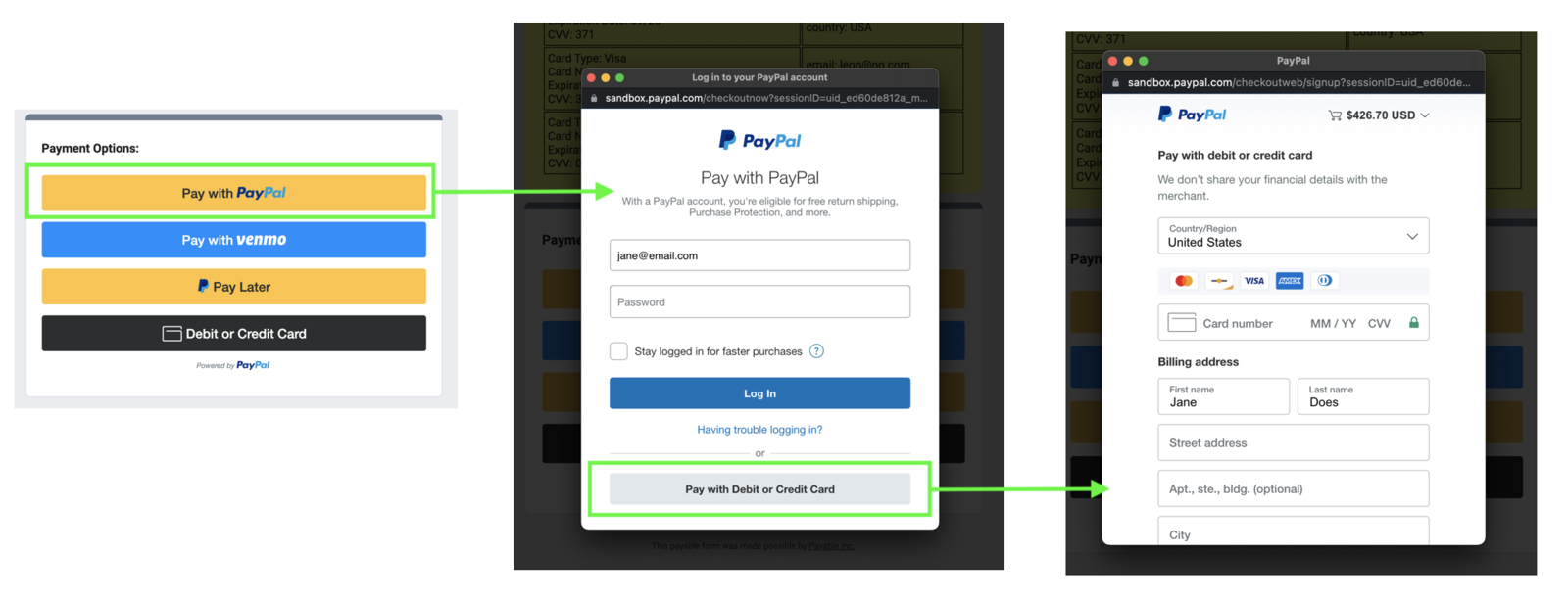 Getting to the Full PayPal Guest Checkout