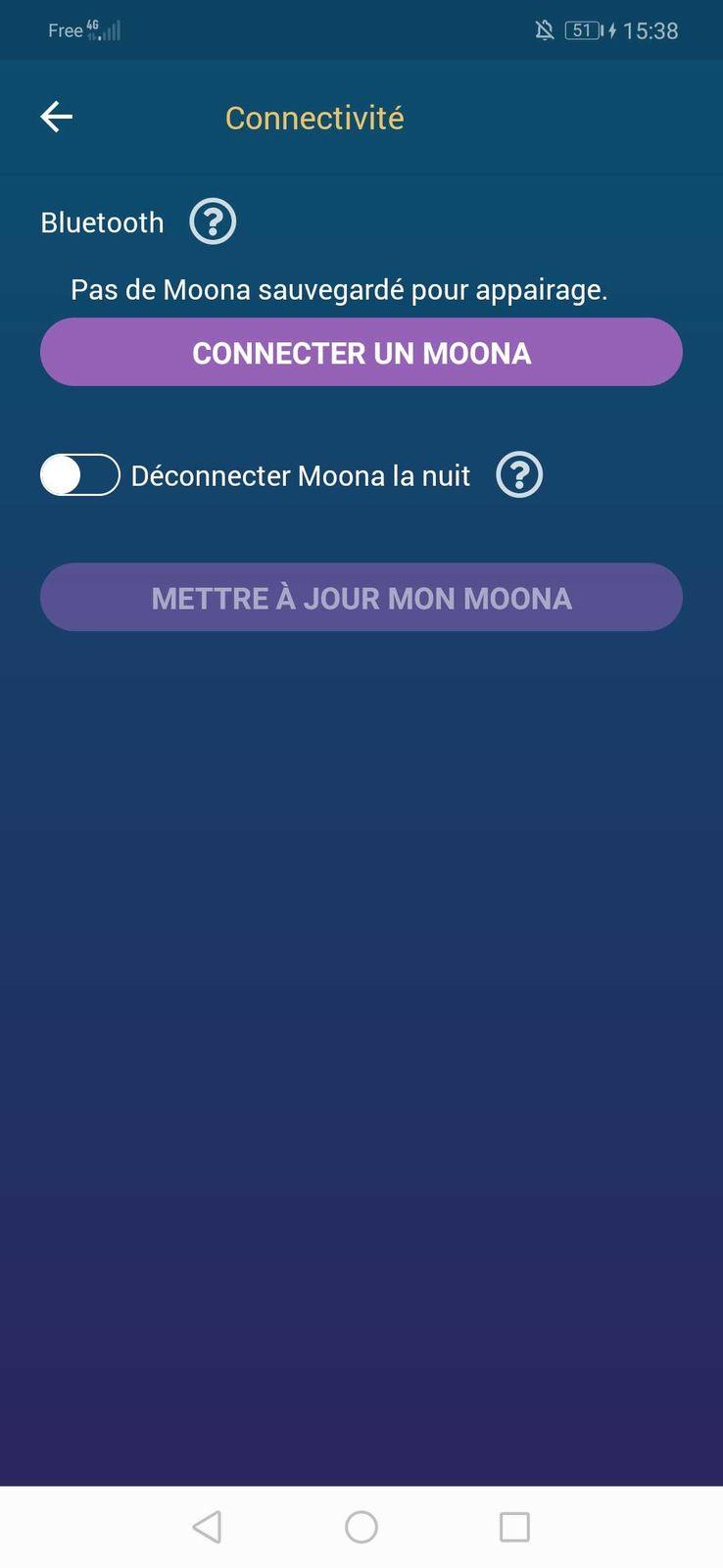 Connecter MOONA