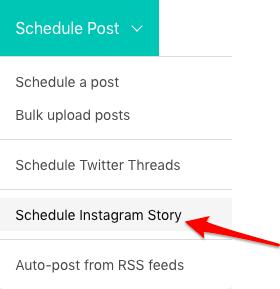 Schedule Instagram Stories