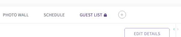 "Deactivating Guest List will display a ""lock"" icon in the menu bar, and the contents will only be visible to event admins."
