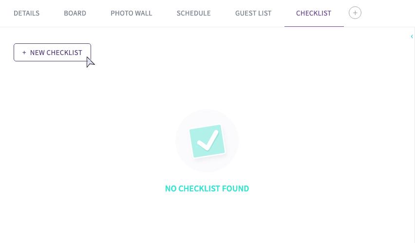 Starting a New Checklist