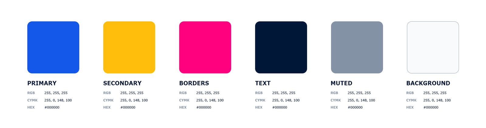 Voorbeeld - Template Brand Colors