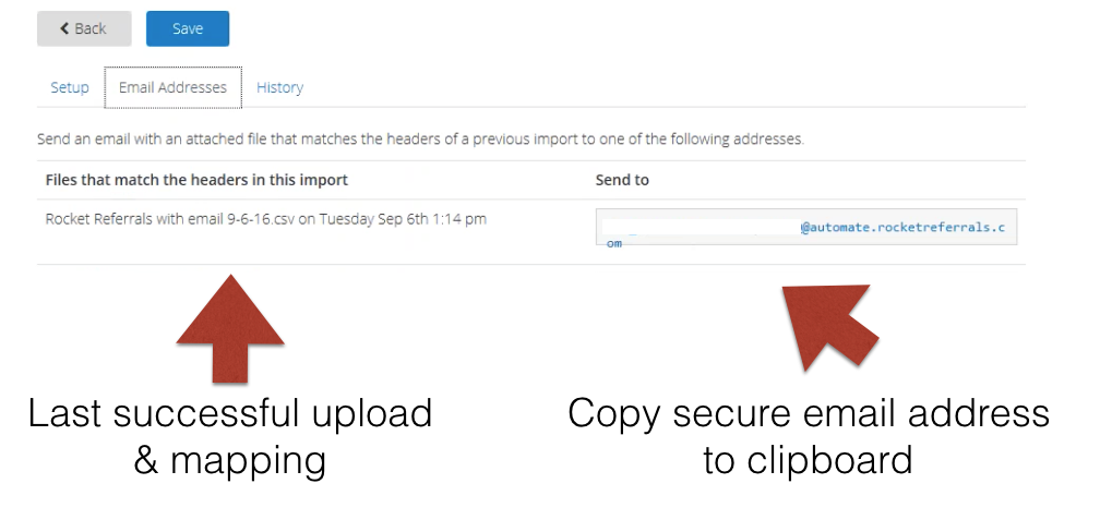 Private Email Import Applied EPIC
