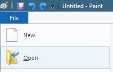 File > Open