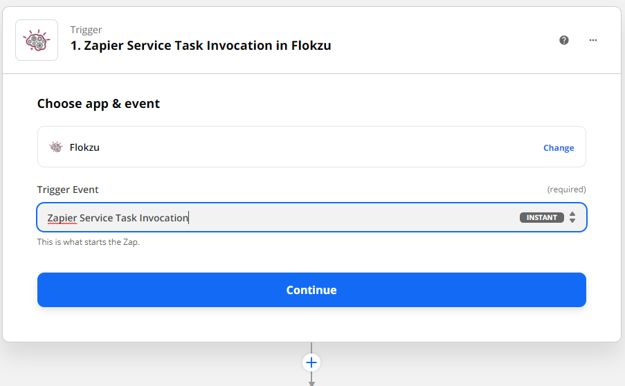 Zapier Service Task invocation in Flokzu