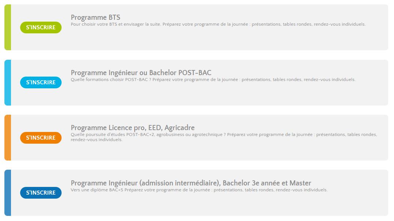 4 programmes différenciés
