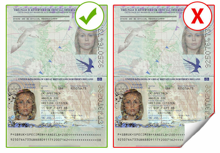 Take a scan of your document as per this example