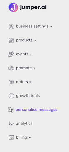 personalise messages