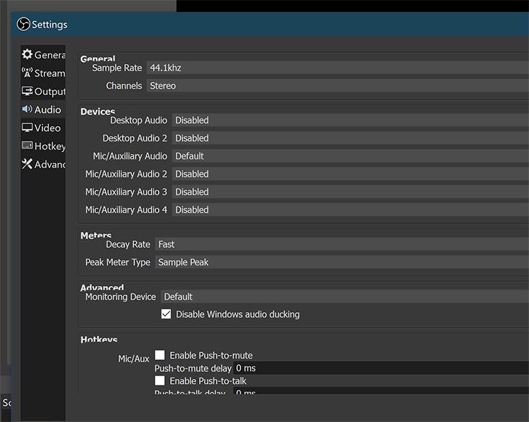 Nuestra configuración de audio recomendada