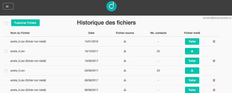 """Le bouton """"Fusionner Fichiers"""" permet de regrouper vos données dans un seul fichier"""
