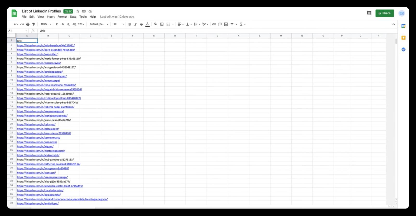 Ejemplo de CSV listo para usar en Scrab.in