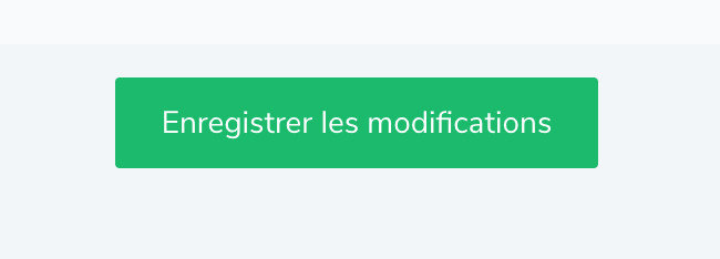 Enregistrer les modifications