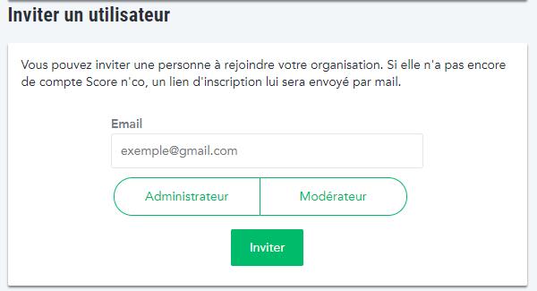 Inviter un nouvel utilisateur