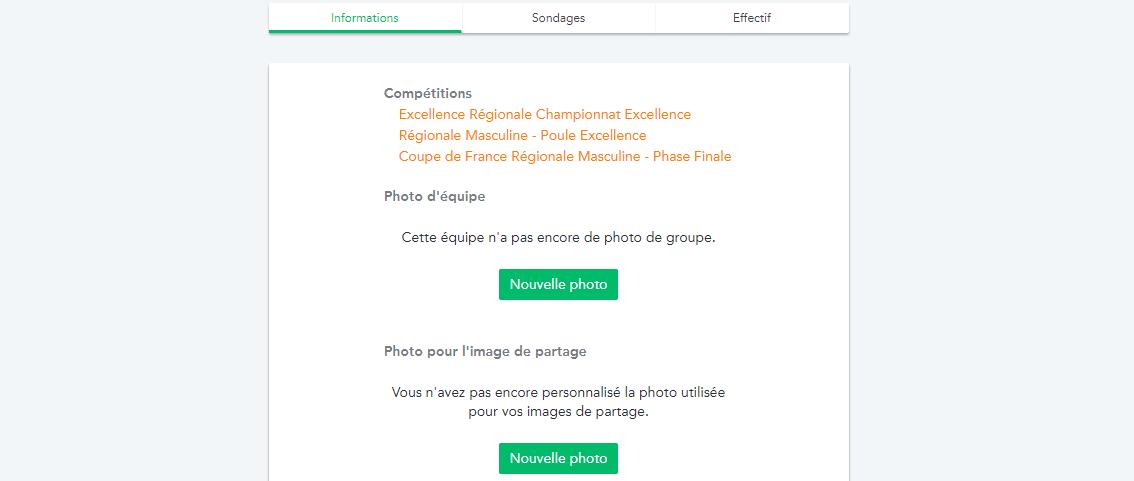 Personnaliser la photo d'équipe ainsi que l'image utilisée pour générer l'image de partage des matchs