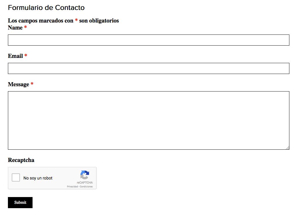 formulario contacto