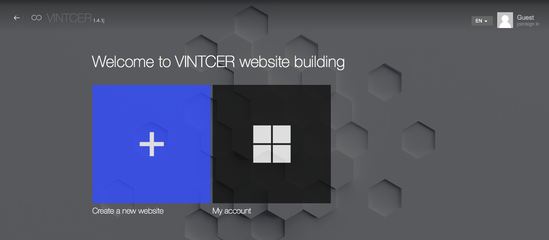 create a new websire