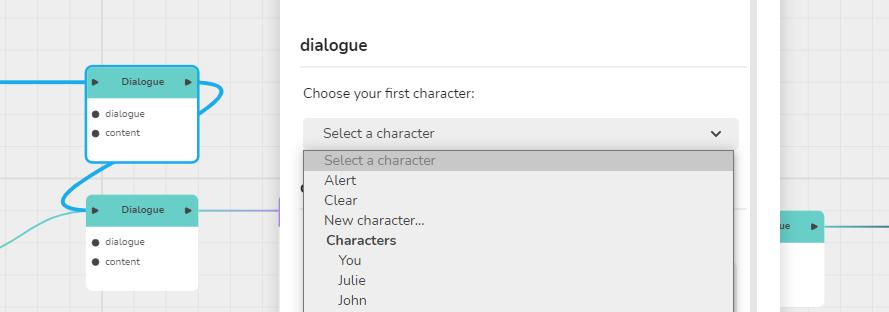 Opening dialogue block