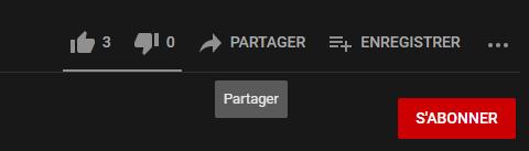 Bouton youtube Partager