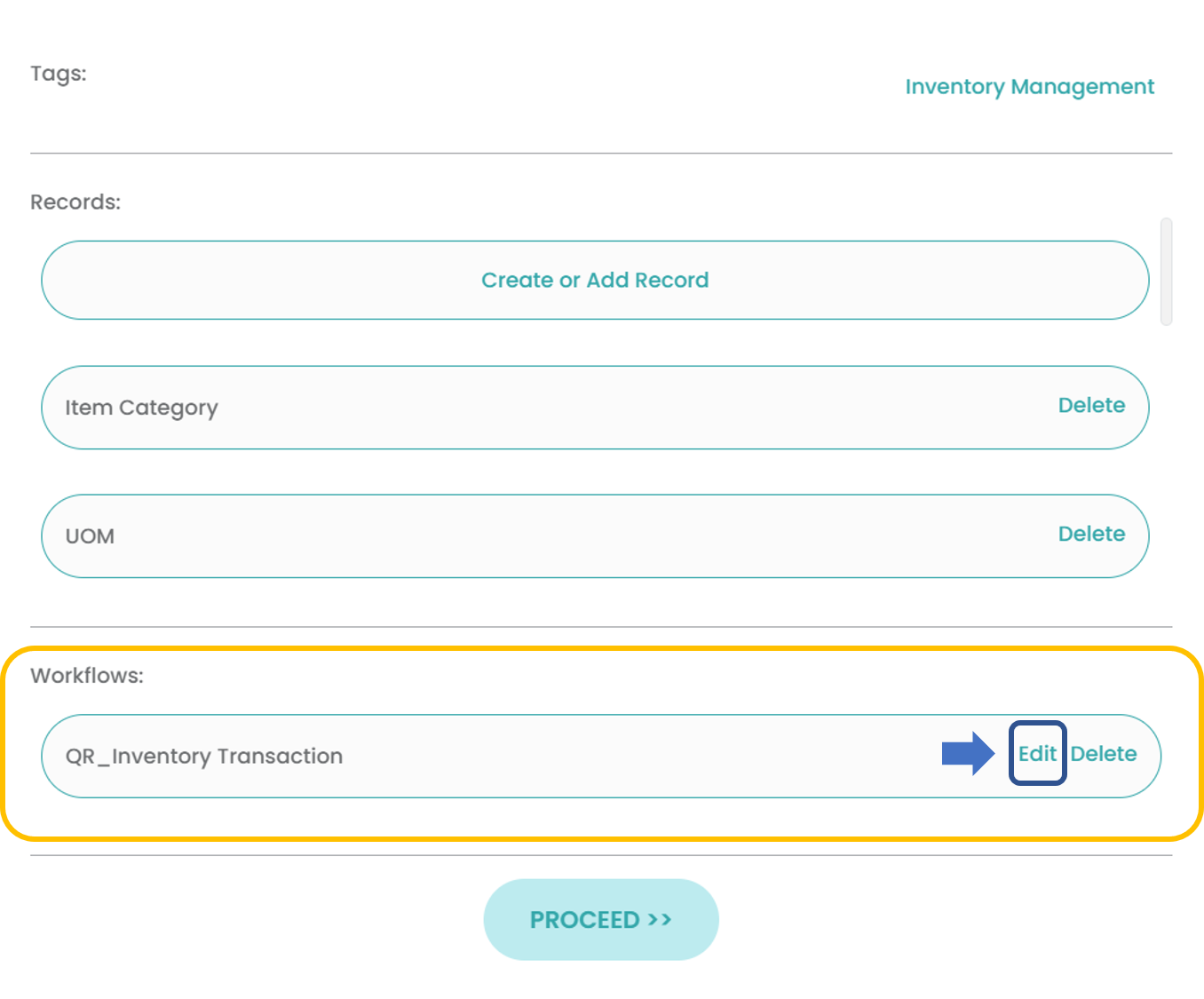 Fig. 2.1: Scroll down the Information Setup pane to edit the Workflow Template name
