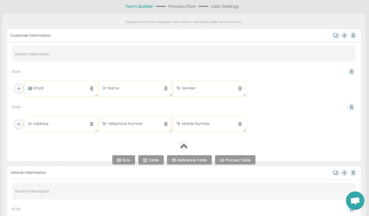 Fig. 3: Automotive Shop Floor Management Form Builder preview