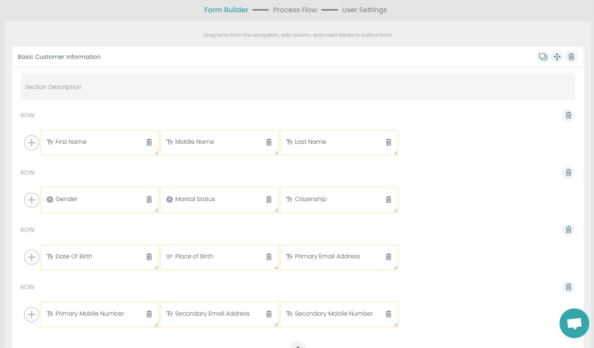 Fig. 3: KYC Lending Individual Form Builder preview