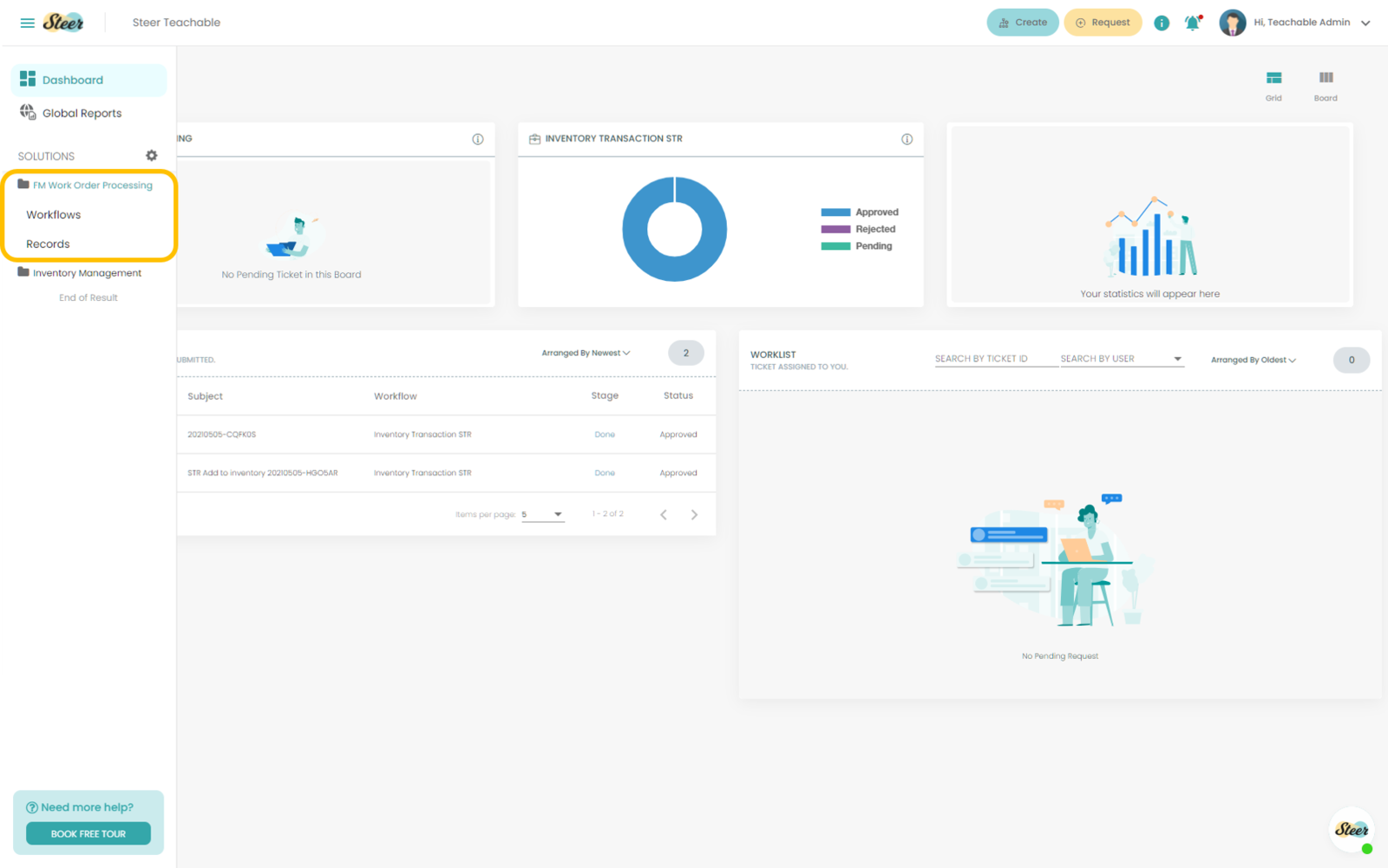 Fig. 6: Viewing a Solution Template from the Steer dashboard