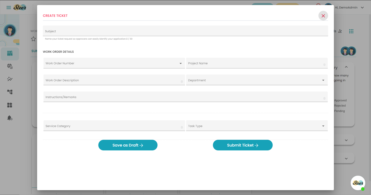 Step 9: Select the Work Order Number to start processing the item
