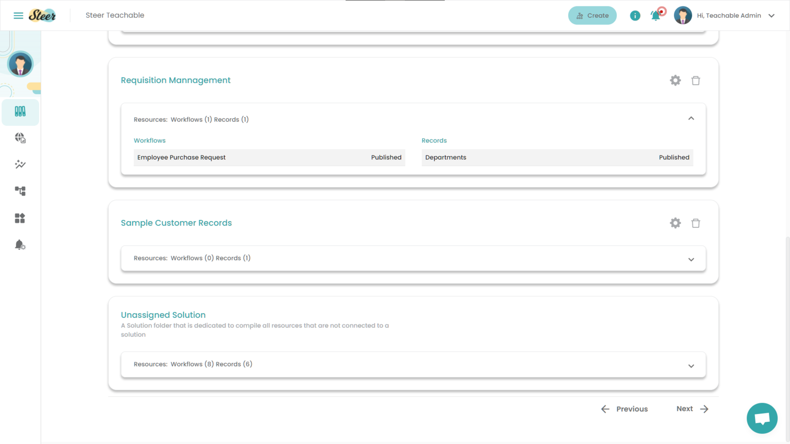 Fig 6: Viewing a Solution Template from the Steer dashboard